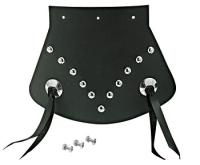 Large Studded Mud Flap with Conchos