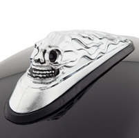 J&P Cycles Skull Head Front Fender Ornament