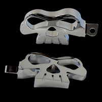 V-Twin Manufacturing Male-mount Skull Footpeg Set