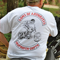 Sons of Arthritis Men's Ibuprofen Chapter White T-Shirt