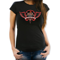 Sons of Arthritis Women's Hotflash Chapter Black with Red Ink T-Shirt