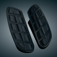 Kuryakyn Kinetic Black Swept Driver Board Inserts