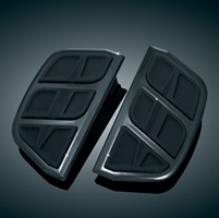 Kuryakyn Kinetic Black Passenger Board Inserts