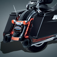 Kuryakyn Black/Smoke LED Saddlebag Extensions