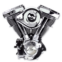 S&S Cycle V96 Evo Style Wrinkle Black Finish Engine