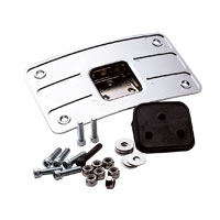 J&P Cycles® Chrome Curved Laydown License Plate Bracket