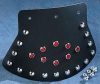 J&P Cycles® Medium Studded Mud Flap with Diamond Center