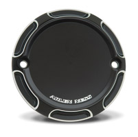 Arlen Ness Black Beveled Point Cover