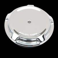 Arlen Ness Chrome Beveled LED Gauge Gas Caps