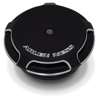 Arlen Ness Black Beveled LED Gauge Gas Caps