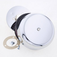 K&N High-Flow Chrome Bonnet Open Round Air Cleaner Assembly