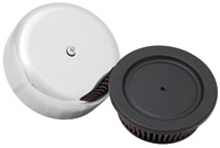 K&N High-Flow Chrome Bonnet Closed Round Air Cleaner Assembly