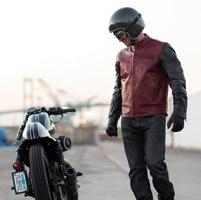 Roland Sands Design Ronin Oxblood/Black Leather Jacket