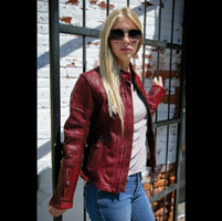 Roland Sands Design Maven Women's Oxblood Red Leather Jacket