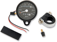 Drag Specialties Mini Speedometer with Black Housing