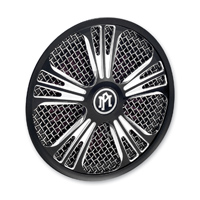 Performance Machine Icon Faceplate for SuperGas Air Cleaner Contrast Cut Platinum