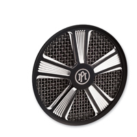 Performance Machine Platinum Contrast Cut Shock Air Cleaner Faceplate