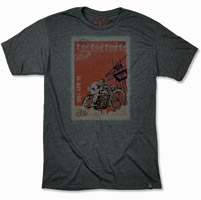 Roland Sands Design Men's Stamp Charcoal T-shirt