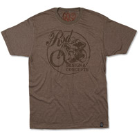 Roland Sands Design Men's Design and Concepts Brown T-shirt