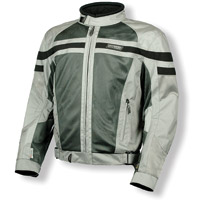 Olympia Moto Sports Renegade Mesh Tech Silver Jacket