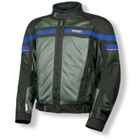 Olympia Moto Sports Renegade Mesh Tech Blue Jacket