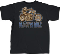 Old Guys Rule Rick Rietveld Easy Rider Biker T-shirt