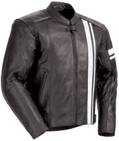 Tour Master Coaster 3 Men's Black/White Leather Jac
