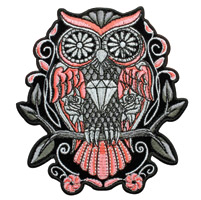 Hot Leathers Sugar Owl Embroidered Patch
