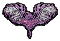 Hot Leathers Lady Rider Web Embroidered Patch w/Rhinestones