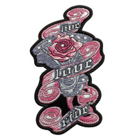 Hot Leathers Live Love Ride Embroidered Patch w/Rhinestones