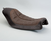 Roland Sands Design Black and Brown Enzo Solo Seat