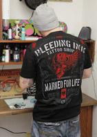 Chapter 13 Men's Tattoo Shop Black T-Shirt