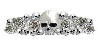 Hair Ringz Skull Roses & Rhinestones