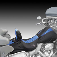 BikeSheath Black and Blue Seat and Tank Cover w/Backrest