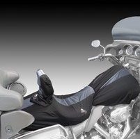 BikeSheath Black and Gray Seat and Tank Cover w/Backrest