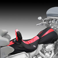 BikeSheath Black and Red Seat and Tank Cover w/Backrest