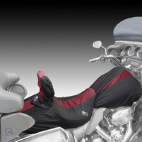 BikeSheath Black and Burgundy Seat and Tank Cover w/Backrest