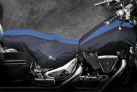 BikeSheath Black and Blue Seat and Tank Cover