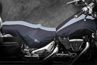BikeSheath Black and Gray Seat and Tank Cover