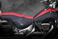 BikeSheath Black and Red Seat and Tank Cover