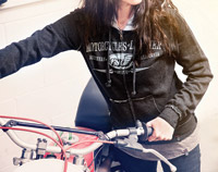 Roland Sands Design Zip Front Gun Metal Gray Ladies Hoodie