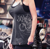 Roland Sands Design Ladies Heather Charcoal Comfort Tank Top
