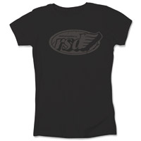 Roland Sands Design Cafe Wing Ladies Black Fitted T-shirt