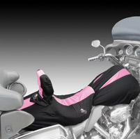 BikeSheath Black and Pink Seat and Tank Cover w/Backrest