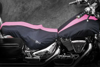 BikeSheath Black and Pink Seat and Tank Cover