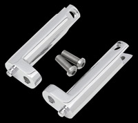 Hotop Designs Chrome Passenger Footpeg Mounts for Touring Models