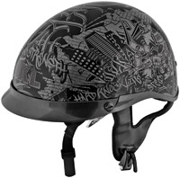 Speed and Strength SS400DVD Hard Knock Life Black/Gray Half Helmet