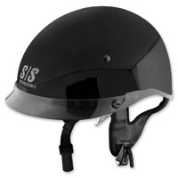 Speed and Strength SS400DVD Solid Speed Gloss Black Half Helmet