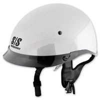Speed and Strength SS400DVD Solid Speed Gloss White Half Helmet