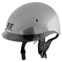 Speed and Strength SS400DVD Solid Speed Silver Half Helmet
